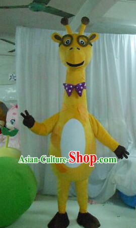 Professional Custom Mascot Uniforms Mascot Outfits Customized Animal Cartoon Character Walking Giraffe Mascot Costumes