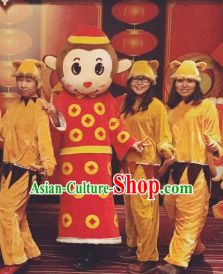 Mascot Uniforms Mascot Outfits Customized Walking Mascot Costumes Animal Monkey Year Mascots Costume