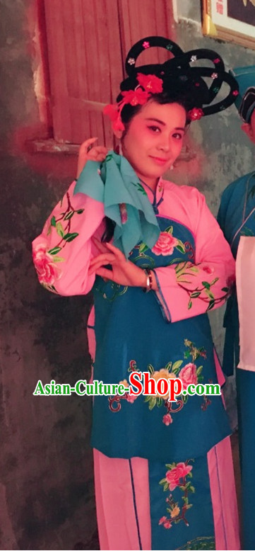 Chinese Opera Hua Dan Dance Costume Complete Set for Women
