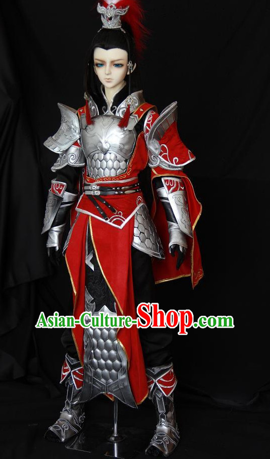 Chinese Ancient General Superhero Armor Costumes Complete Set for Men