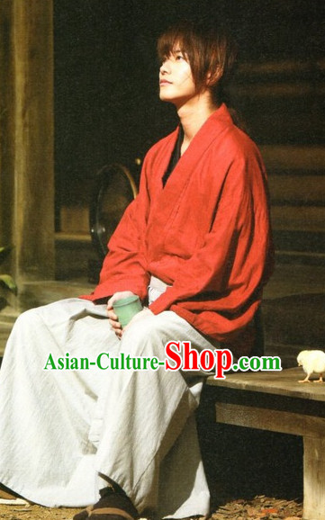 Traditional Japanese Ancient Swordsman Swordmen Costumes for Men
