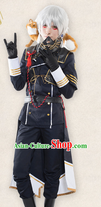 Japanese Cartoon Character Swordsman Swordmen Costumes Complete Set for Men or Women