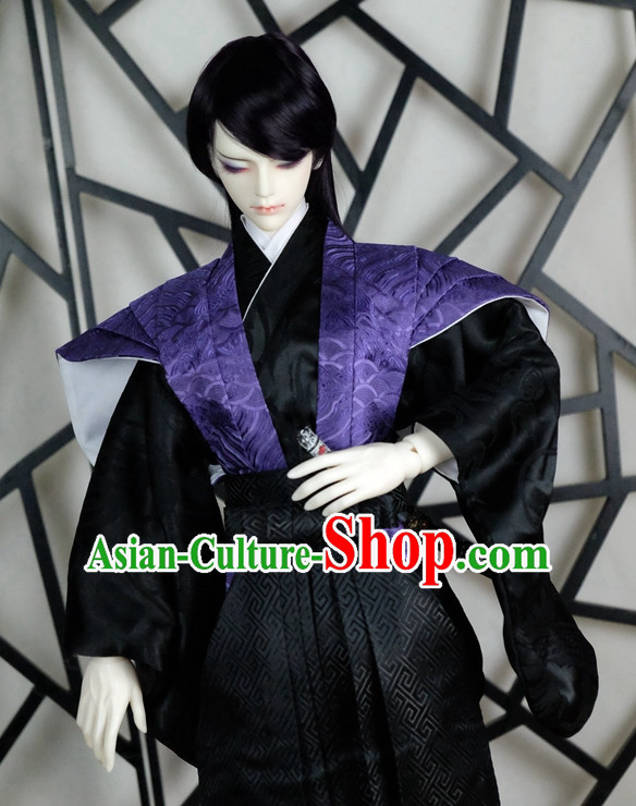 Japanese Traditional Prince Kimono Clothes Complete Set for Men Boys Adults