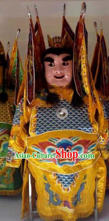 Top Handmade Adult Human Size Taiwan Dianyin Prince Puppet Props Costumes Armor Decorations Display Parade