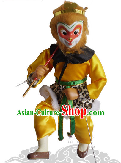 20 Inches High Sun Wukong Monkey King Hands Traditional String Puppet