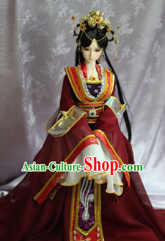 Chinese Ancient Fairy Clothing and Headpieces Complete Set for Women Girls Adults Children