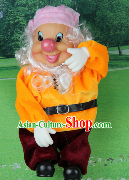 0.42 Meter High Chinese Handmade Dwarf Hand Marionette Puppet Hand Puppets