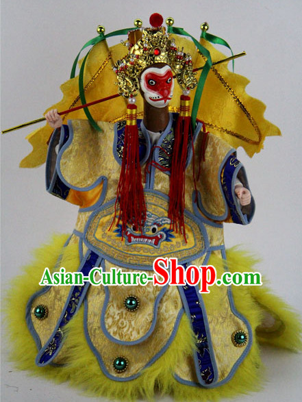 Top Traditional Chinese Ancient Handmade Sun Wukong Glove Puppets Hand Marionette Puppet Hand Puppets