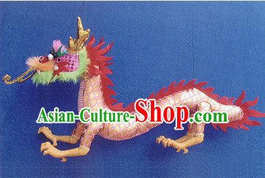 Traditional Chinese Handmade Dragon Hand Marionette Puppet Hand Puppets