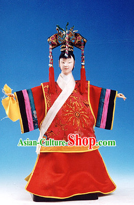 Traditional Chinese Handmade Empress String Puppet Hand Puppets Hand Marionette Puppet
