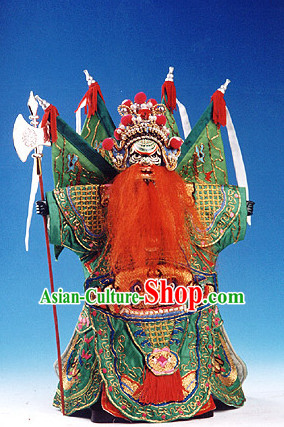Traditional Chinese Handmade General Armor String Puppet Hand Puppets Hand Marionette Puppet Arts Collectibles