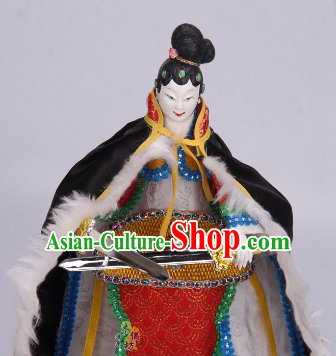 Traditional Chinese Handmade Bai Gu Jing Glove Puppet String Puppet Hand Puppets Hand Marionette Puppet Arts Collectibles