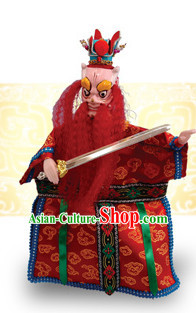 Traditional Chinese Handmade Dragon King of South Ocean Hand Puppets Hand Marionette Puppet