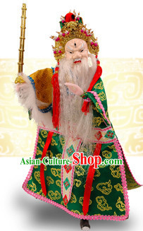 Traditional Chinese Handmade Grand Tutor Hand Puppets Hand Marionette Puppet