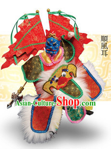 Traditional Chinese Handmade Shun Feng Er Hand Puppets Hand Marionette Puppet