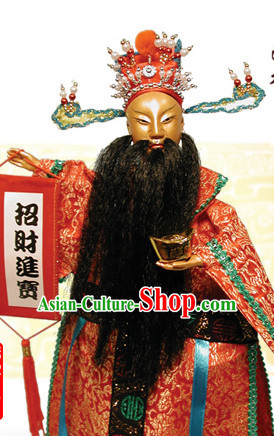 Traditional Chinese Handmade The God of Happiness Hand Puppets Hand Marionette Puppet