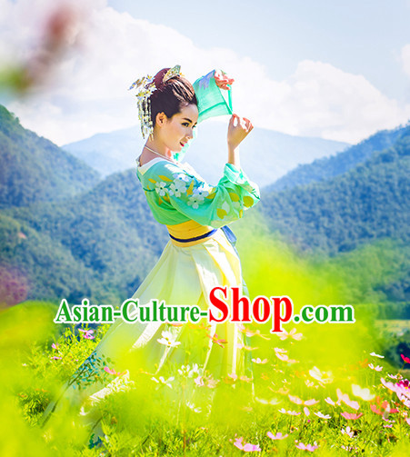 Ancient Chinese Han Dynasty Clothing Complete Set for Women or Girls