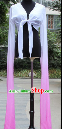 White to Pink Chinese Classic Water Sleeve Dance Costumes for Women or Girls
