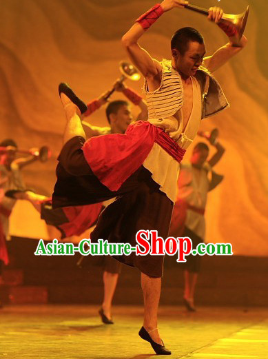 Chinese Classical Folk Dance Costumes for Men