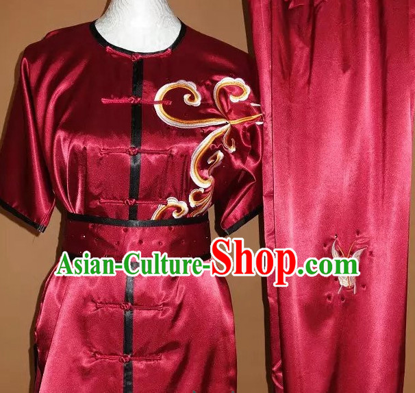 Top Embroidered Mandarin Tai Chi Taiji Martial Arts Competition Uniforms Dresses Suits Outfits