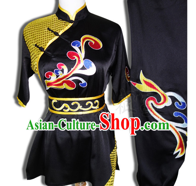 Top Tai Chi Taiji Kung Fu Gongfu Martial Arts Wushu Competition Uniforms Dresses Suits Outfits for Adults and Kids
