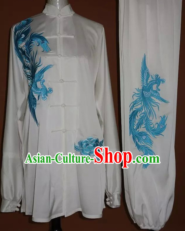 Top Tai Chi Taiji Kung Fu Gongfu Martial Arts Wu Shu Wushu Championship Competition Uniforms Dresses Suits Outfits for Adults and Kids