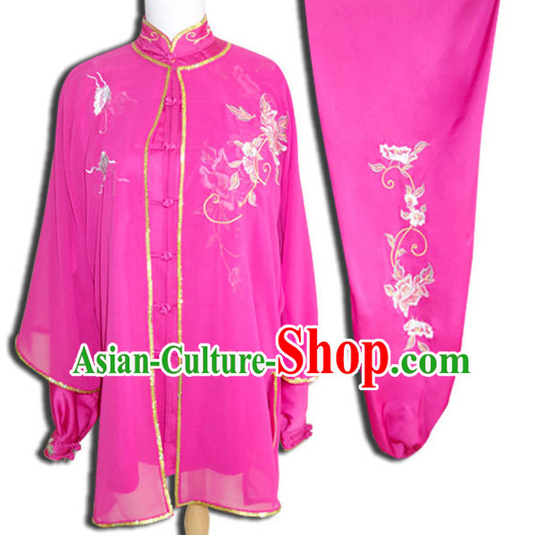 Top Tai Chi Taiji Kung Fu Gongfu Martial Arts Wu Shu Wushu Championship Competition Uniforms Clothes Dresses Suits Outfits for Adults and Kids
