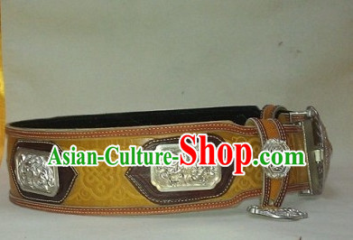 Traditional Chinese Mongolian Feather Belt for Adults Kids