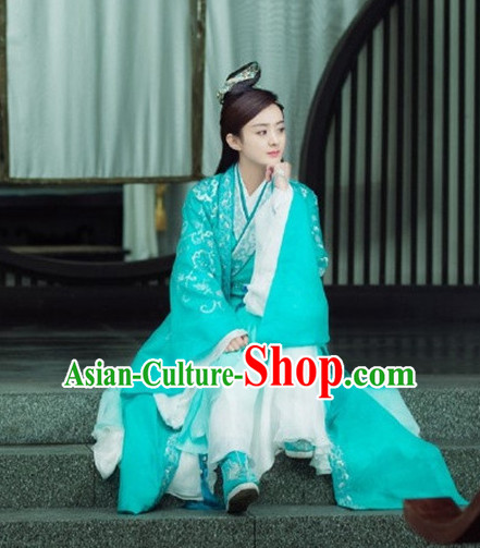 Ancient Chinese Fairy Clothing and Headdress Complete Set for Women