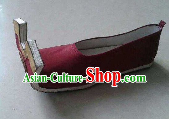 High Heel Handmade Ancient Traditional Chinese Male Embroidered Hanfu Lotus Shoes China Shoes for Men or Boys