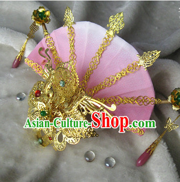 Ancient Chinese Empress Princess Phoenix Queen Crown Coronet Headpieces Headdress Hair Accessories Set
