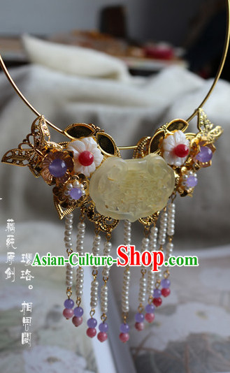 Ancient Chinese Empress Princess Phoenix Queen Necklace