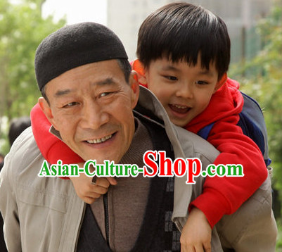 Traditional Chinese Handmade Black Hat for Men