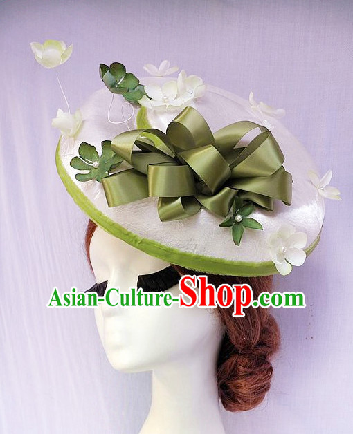 Handmade Flower Middle Eve Hat Headpieces for Girls and Women