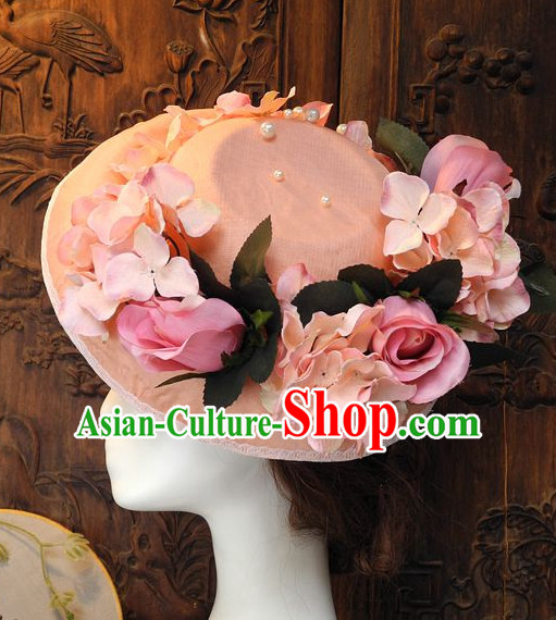 Handmade Flower Decorations Hat for Ladies