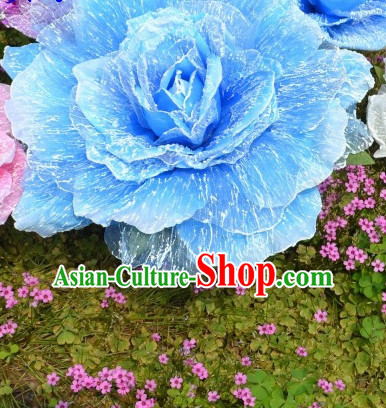 0.75 Meter Big Blue Flower Dance Props Props for Dance Dancing Props for Sale for Kids Dance Stage Props Dance Cane Props Umbrella Children Adults