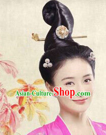 Chinese Ancient Lady Black Wig Wigs and Hair Accessories
