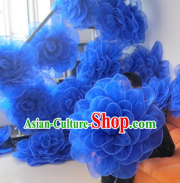Blue Rose Flower Dance Props Props for Dance Dancing Props for Sale for Kids Dance Stage Props Dance Cane Props Umbrella Children Adults