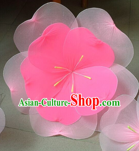 0.7 Meter Double Layers Peach Flower Dance Props Props for Dance Dancing Props for Sale for Kids Dance Stage Props Dance Cane Props Umbrella Children Adults