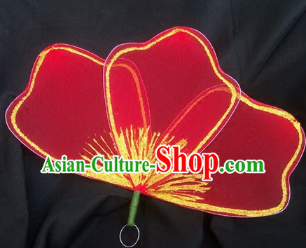0.6 Meter Red Flower Dance Props Props for Dance Dancing Props for Sale for Kids Dance Stage Props Dance Cane Props Umbrella Children Adults
