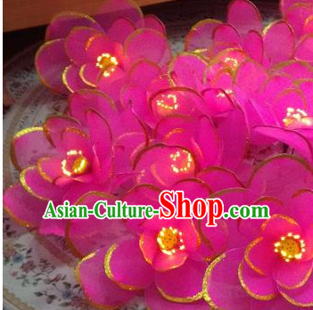 Big Luminous Handmade Lotus Dance Props Props for Dance Dancing Props for Sale for Kids Dance Stage Props Dance Cane Props Umbrella Children Adults
