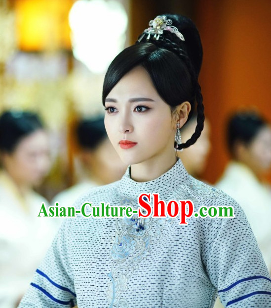 Ancient Chinese Beauty Black Wig Wigs and Hair Accessories