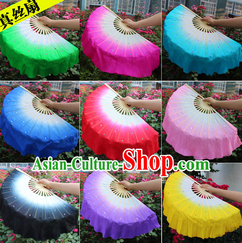 Traditional Chinese Pure Silk Dance Fan