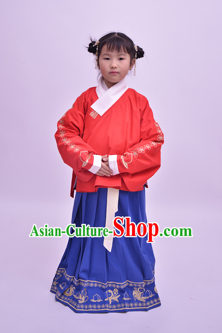 Traditional Hanfu Clothing Dress Buy Male Costume Robe Kimono Dress and Hat Complete Set for Kids Boys