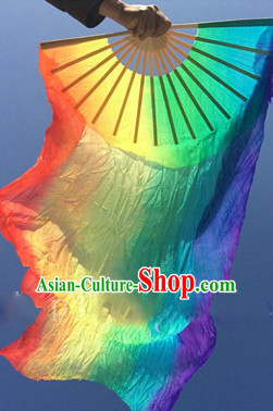 Pure Silk Color Transition Competition Chinese Dance Fan Cultural Fans