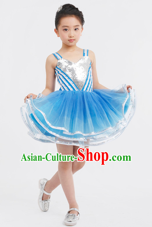 Chinese Competition Dance Costumes Kids Dance Costumes Folk Dances Ethnic Dance Fan Dance Dancing Dancewear for Children
