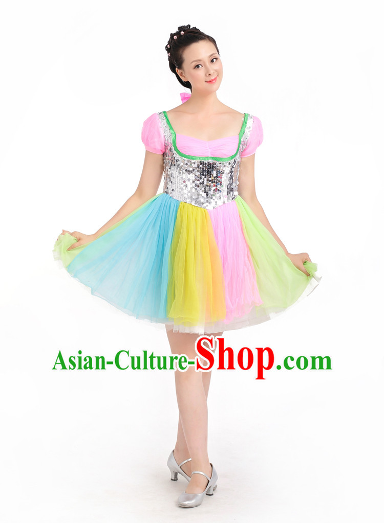 Chinese Competition Stage Dance Costumes Female Dance Costumes Folk Dances Ethnic Dance Fan Dance Dancing Dancewear for Women