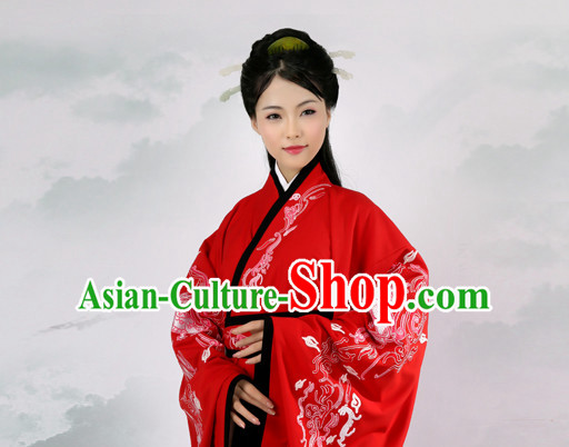 Ancient Chinese Embroidered Hanfu Dress China Traditional Clothing Asian Long Dresses China Clothes Fashion Oriental Outfits for Women or Men