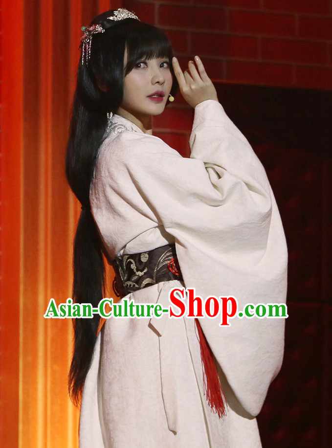 Ancient Chinese Han Clothing Beauty Costumes for Women