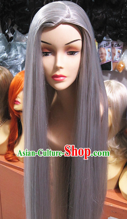 Chinese Traditional Wig Ancient Men Wigs Ladies Wigs Grey Wigs Male Lace Front Wigs Custom Hair Pieces